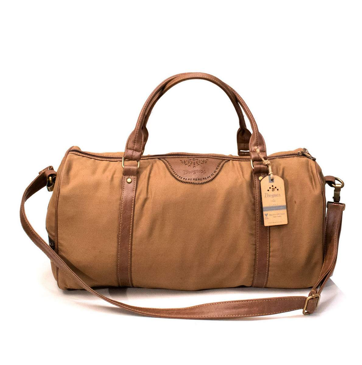 Brogues Paisley Leather Duffle Bag - Sunrise Trading Co (Bangalore) 3bc4b93883ca3