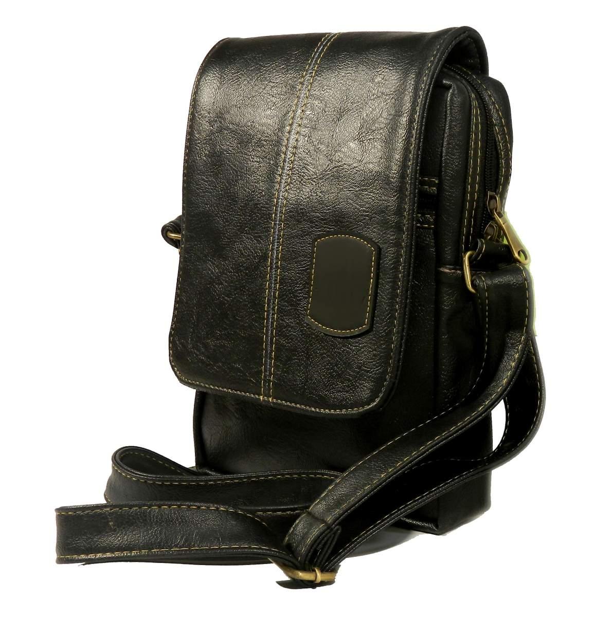ed9df72325d Brogues Oxford Black Leather Messenger Bag-Sunrise Trading Co.