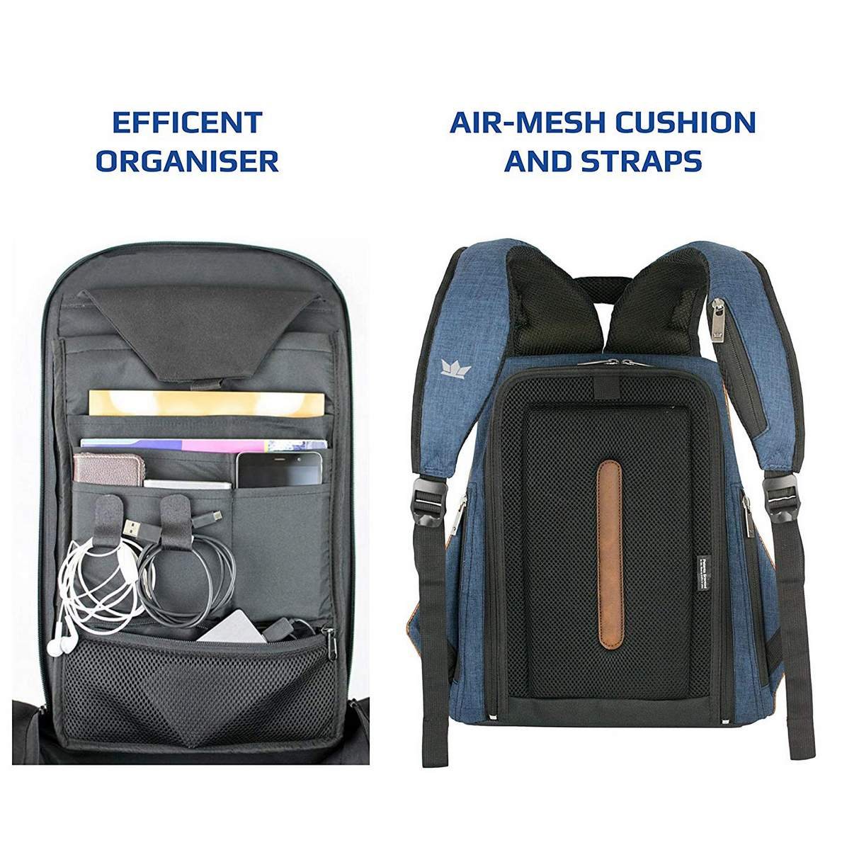 Road Gods The Ghost Blue Minimalist Anti Theft Laptop Backpack 0753bc773a461