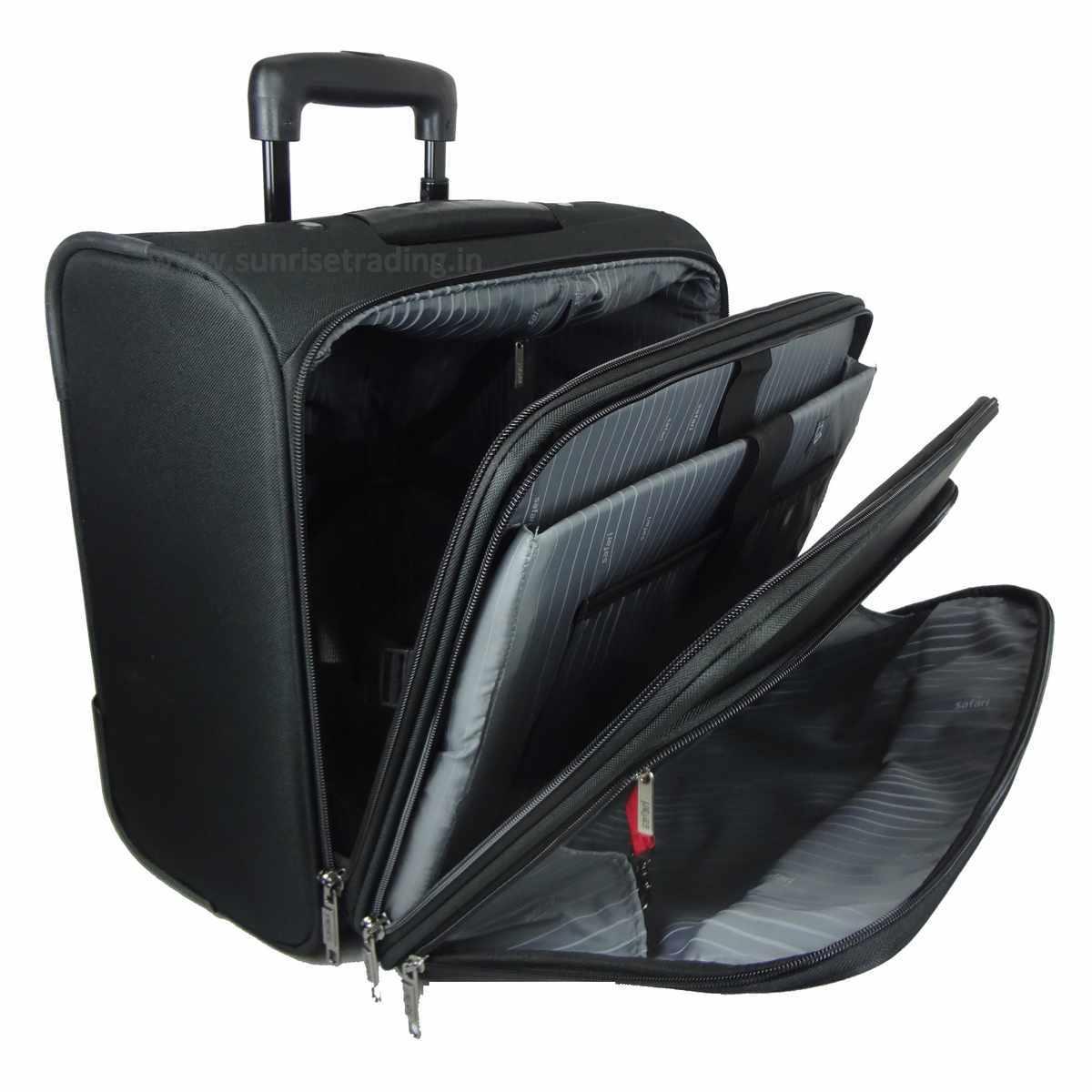 safari pisa laptop trolley overnighter business bag