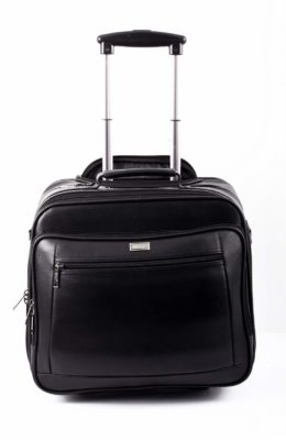 Space Laptop Leather Trolley Bag in Bangalore