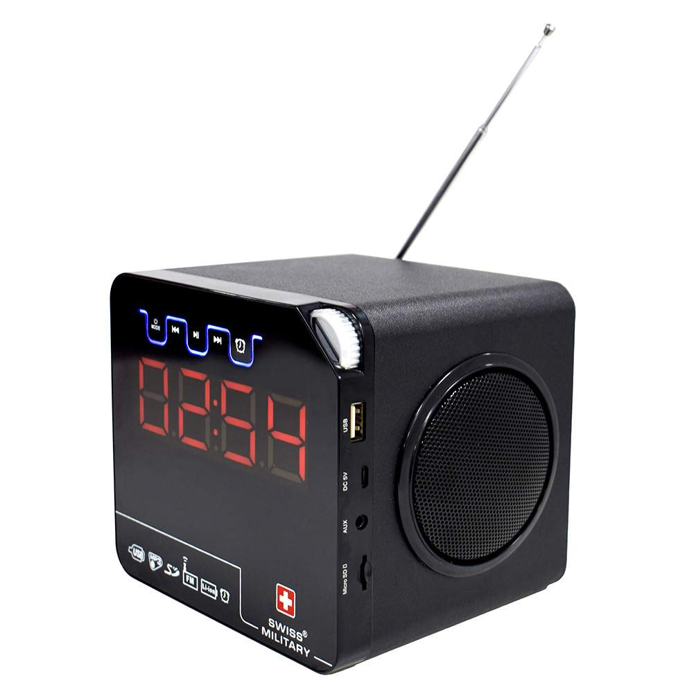 1f4f7fc46a0 Swiss Military BL10 3 in 1 Bluetooth Speaker cum Radio cum Digital Clock  with Remote Control-Sunrise Trading Co.